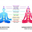 Stock Vector: Yogchakras diagram