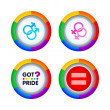 Gay pride badges — Vettoriali Stock