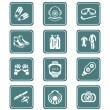 Scuba diving icons - TEAL series — Stock Vector #32334481