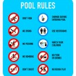 Pool rules signs — Stock Vector #32819561