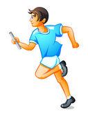 Runner boy — Stock Vector