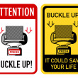 Buckle up signs — Stok Vektör