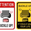 Stock Vector: Buckle up signs
