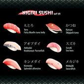 Nigiri sushi VI — Stock Vector