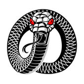 Snake tattoo — Stock Vector