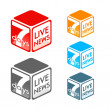 Live news symbol — Stock Vector