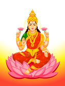Indian Goddess Lakshmi — Stock Vector