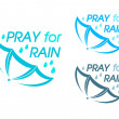 Stock Vector: Pray for Rain