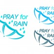 Pray for Rain — Stock Vector #41909495