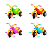 Child 3-wheel car — Stock Vector