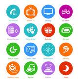 Sistem düz icons - iv set — Stok Vektör