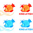 King of fish symbol — Stock Vector