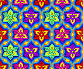Seamless bright indian pattern — Stock Vector