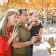 Mixed Race Family Enjoy a Day at The Park — Stock Photo