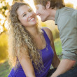 An Attractive Couple Enjoying A Day in the Park — Stock Photo