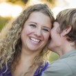 An Attractive Couple Enjoying A Day in the Park — Stock Photo #13874305