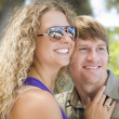 Attractive Loving Couple Portrait in the Park — Stock Photo #13913628