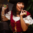 Stock Photo: Dramatic Female Pirate Scene