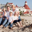 Happy Caucasian Family in Front of Hotel Del Coronado — Stockfoto