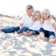 Royalty-Free Stock Photo: Adorable Sisters and Brother Having Fun at the Beach