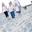 Adorable Children and Family on a Walk - Stock Photo