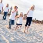 Adorable Caucasian Family on a Walk — Stock Photo