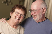 Happy Senior Couple Portrait — Stock Photo