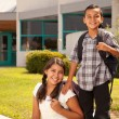 Royalty-Free Stock Photo: Cute Hispanic Brother and Sister Ready for School