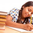 Pretty Hispanic Girl Studying — Stock Photo