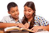 Hispanic Brother and Sister Having Fun Studying — Photo