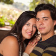 Attractive Hispanic Couple Portrait Outdoors — Stock Photo