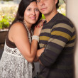 Attractive Hispanic Couple Portrait Outdoors — Stock Photo #16751121