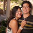 Stock Photo: Attractive Hispanic Couple Portrait Outdoors