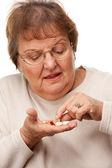 Attractive Senior Woman and Medication Pills — Stockfoto