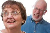 Senior Couple in an Argument — Stock Photo