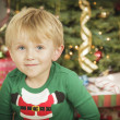 Young Boy Enjoying Christmas Morning Near The Tree — Stock Photo #16977819