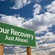 Stock Photo: Your Recovery Green Road Sign
