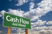 Cash Flow Green Road Sign — Stock Photo