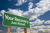 Your Recovery Green Road Sign — Stock Photo