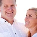 Attractive Caucasian Couple Having Fun Outside — Stock Photo #17867609