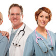Stock Photo: Group of Doctors or Nurses on a White Background