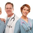 Group of Doctors or Nurses on a White Background — Stock Photo #17868189