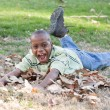 Young African American Boy Playing in the Park — Stock Photo #17868385