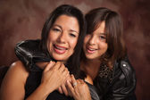 Attractive Hispanic Mother and Daughter Portrait — Stock Photo