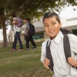 Royalty-Free Stock Photo: Happy Young Hispanic Boy Ready for School