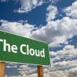 Stock Photo: The Cloud Green Road Sign