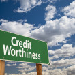 Credit Worthiness Green Road Sign — Stock Photo #19296043