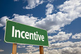 Incentive Green Road Sign — Stock Photo