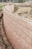 New Outdoor Retaining Wall Being Built — Stock Photo