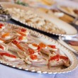 Various Italian Appetizers on Table — Stock Photo